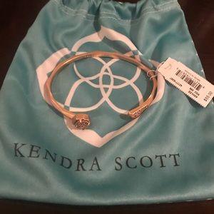 Kendra Scott Ashlee Bangle Bracelet Drusy Rose